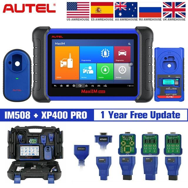 Autel IM508 & XP400 PRO IMMO การเขียนโปรแกรมคีย์เครื่องมือสแกนเนอร์สแกนเนอร์อัตโนมัติไม่มี IP ข้อจำกัด PK IM608