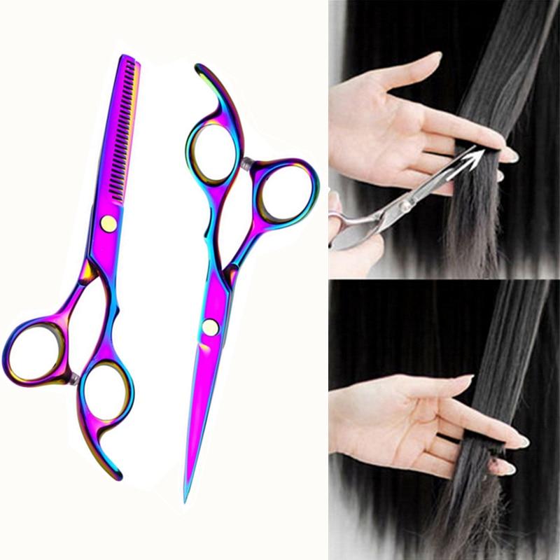 1pc Professional Hair Cutting Scissor Hair Scissors Hairdressing Scissors Kit Hair Straight Thinning Scissors Barber Salon Tools