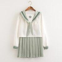 Japanese style Students' Clothes College Style School Uniform Business Attire Soft Girl Service JK Uniform Matcha Green Sailor S