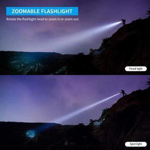 Image 2 - WUBEN L60 LED zumlanabilir el feneri USB şarj edilebilir meşale 1200 lümen 18650 pil IP68 su geçirmez LED 5 aydınlatma modları kamp için