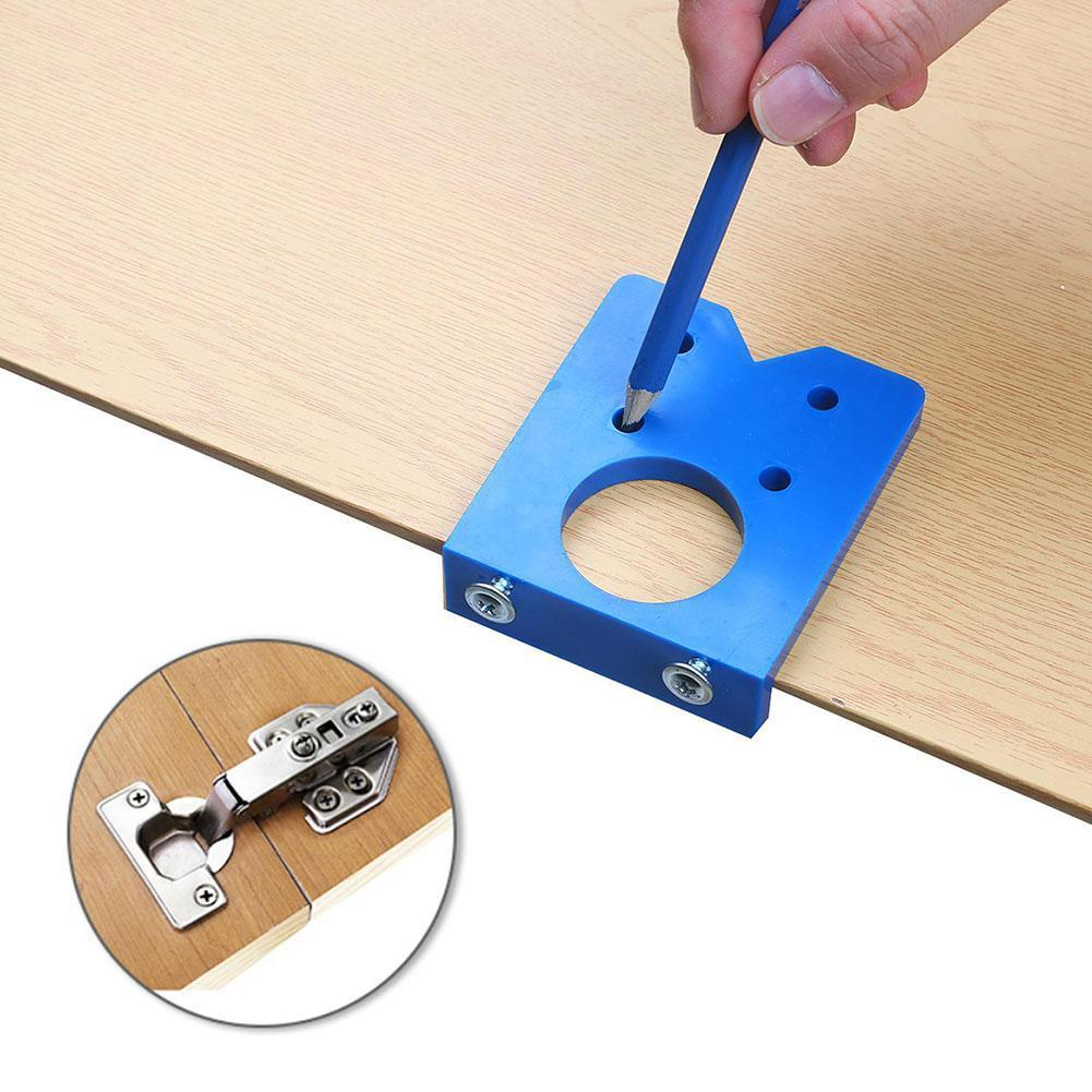 35mm Hinge Drilling Jig Concealed Guide Hinge Hole Woodworking Opener Drilling Hole Cabinet Tool Door Accessories Guide H7Z3