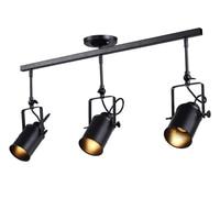 Loft Industrial Spotlights Adjustable Pendant Lamp Vintage Iron for Clothing Store Lighting Coffee House//Bar/Mall Pendant Lamp