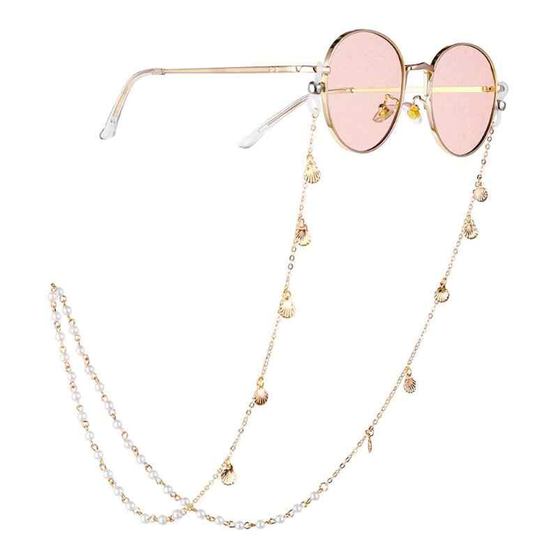 Women Men Glasses Chain Pearl Shell Anti-skid Eyeglasses Cord Jewelry Gift Cord Retainer Strap Eyewear Spectacles Holder