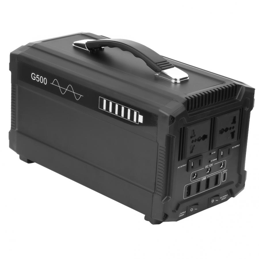 Solar Panel Charging Solar Generator with Lighter Interface Output Used as Traditional UPS 1