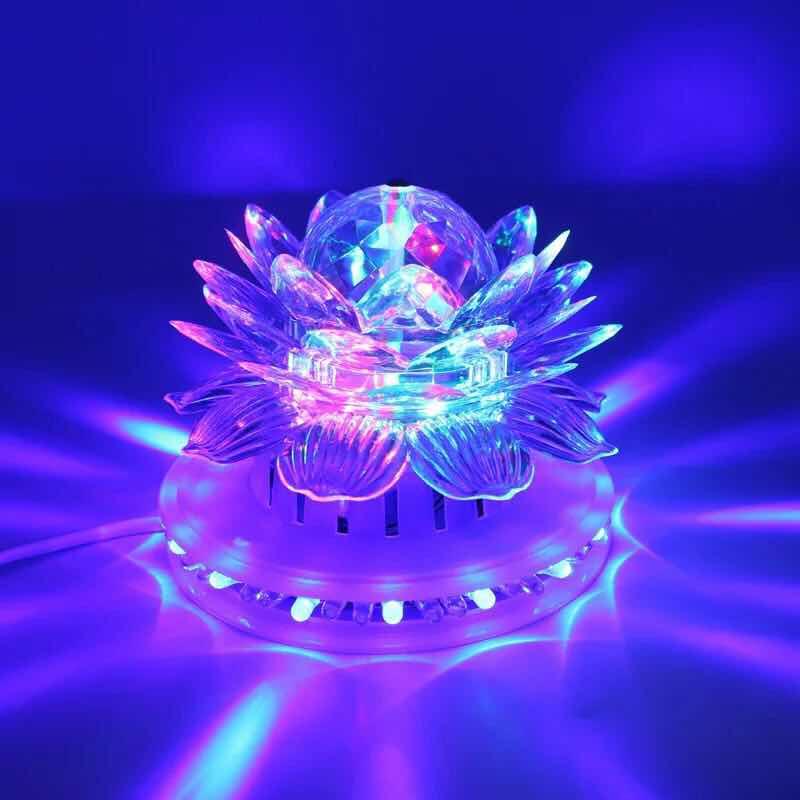 RGB Led Stage Light Magic Ball Party Club Stage Lighting Stage LED Colorful Lotus Lanterns UFO Rotation Home KTV Xmas Wedding