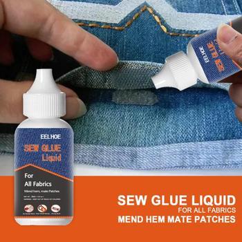 Sew płynny klej odzież klej do naprawy szybki klej nie szyć klej Liquld odzież Sew klej klejenie klej zestaw naprawczy strona główna narzędzie do majsterkowania tanie i dobre opinie NONE CN (pochodzenie) Glue 3*8 3cm 10-11 2000-5000cps