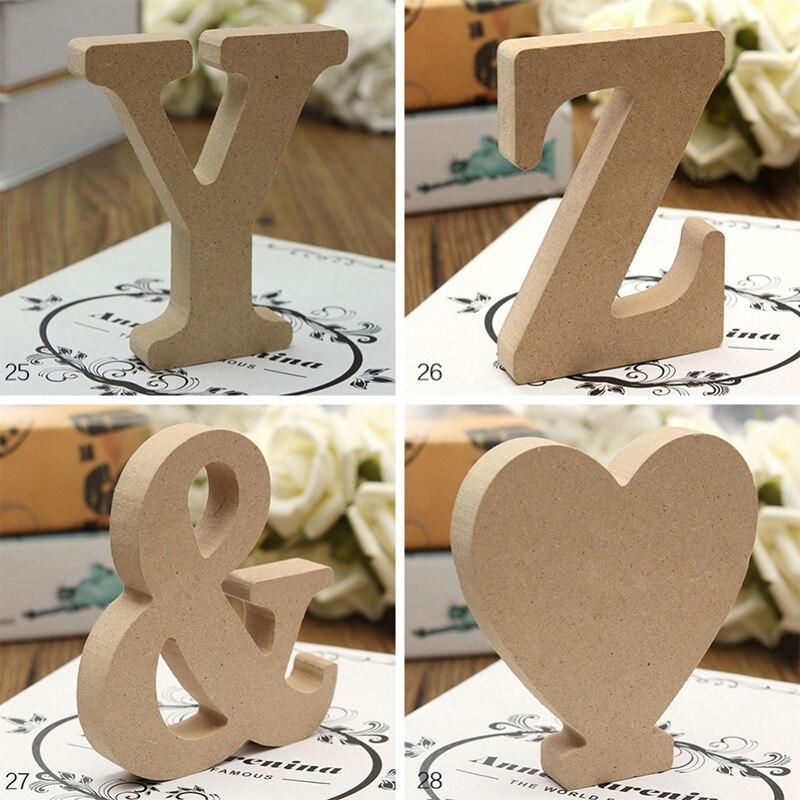 26 liter DIY grube drewniane dekoracje ślubne dekoracje do domu 10cm A-Z list wysoki drewniany list rzemiosło artystyczne stojący Home Decor