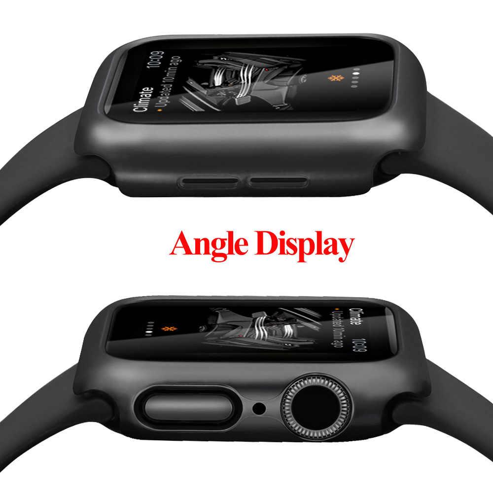 Matowe etui do Apple Watch seria 5 4 38MM 44mm 40mm rama obudowa ochronna obudowa idealne etui zderzak do iWatch 5 4 okładka