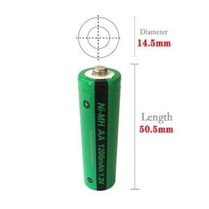 Image 5 - 16x NiMH AA 충전식 배터리 PKCELL 1200mAh 1.2V Ni MH 산업용 배터리 Bateria button Top