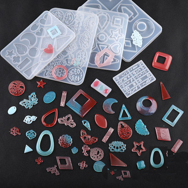 1 шт. DIY древние длинные Звезды формы для изготовления серег аксессуары полимерные формы для ювелирных изделий сушеные Цветочные изделия