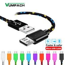 Vumpac – câble Micro USB tressé en Nylon, 1m/2m/3m, pour recharge et synchronisation de données, compatible avec Samsung, HTC, LG, Huawei, Xiaomi, Android