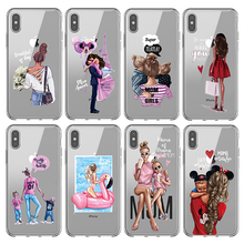 Soft TPU Cover For iphone x 7 8 7/8 plus 5 5s SE Case Ultra-thin Silicone Capa Funda 6 6S 4.7 Hot mom pictures