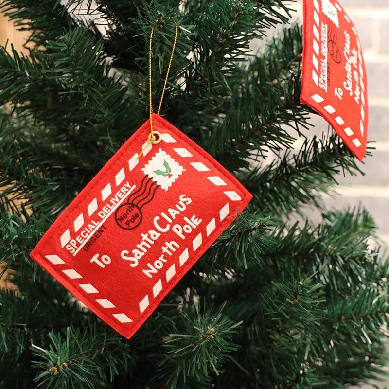 1Pcs Navidad Santa Claus Envelope Hanging Door Ornaments For Christmas Tree Decorations  New Year