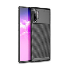 цена на Conelz for Samsung Galaxy Note 10 Plus Case TPU Carbon Fiber Protective Back Case Cover for Samsung Note 10 10+