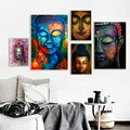 Abstract Buddha Face Poster Wall Art Canvas Painting Prints and Pictures Buddhism Poster Home Living Room Decor No Frame