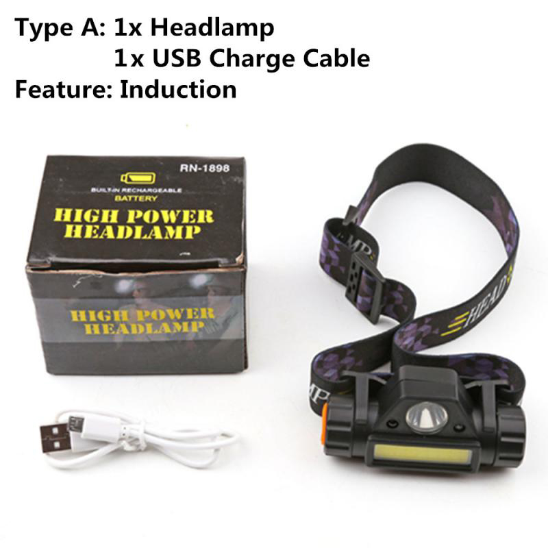 Waterproof LED Flashlight Outdoors Headlight Headlamp Head Light Lamp Torch Lanterna With Headband USB Rechargeable Headlamps