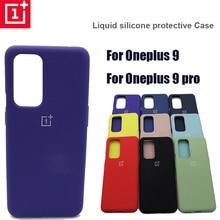 Orijinal Oneplus 9 9pro yumuşak sıvı silikon kılıf için bir artı 8t İnce yumuşak arka kapak bir artı 9 oneplus 9 pro10 renkli