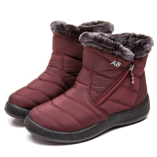 Botas femininas 2020 moda botas de neve à prova dwaterproof água para sapatos de inverno casual leve tornozelo botas mujer botas de inverno quente 3
