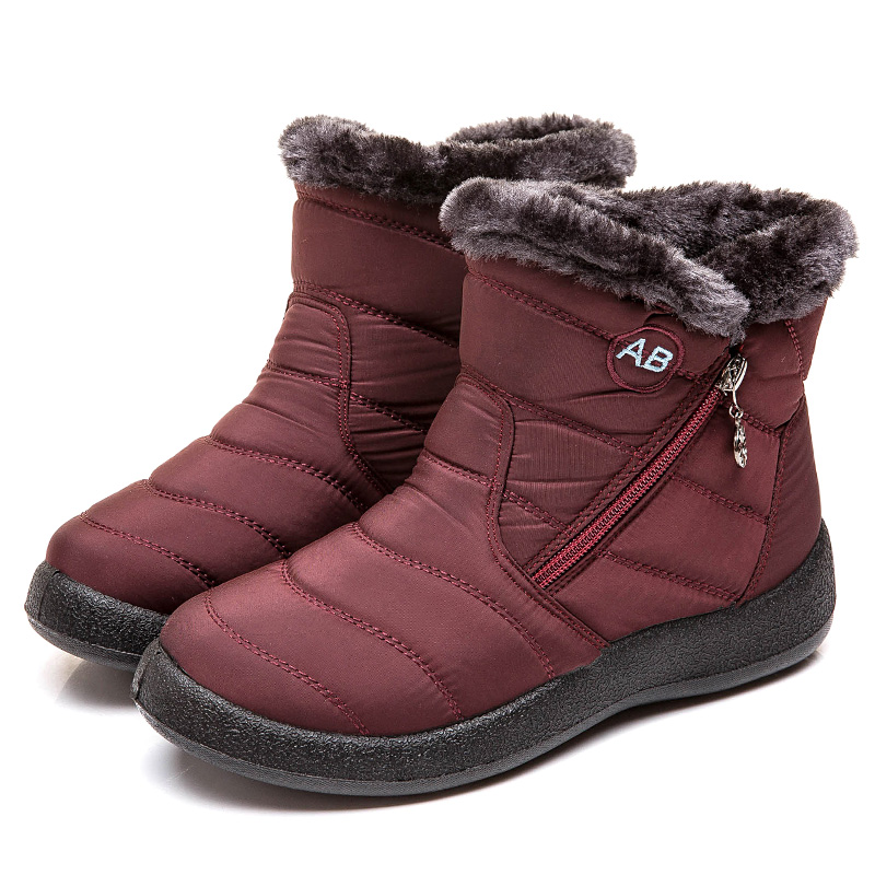 Women Boots 2019 New Waterproof Snow Boots For Winter Shoes Women Casual Lightweight Ankle Botas Mujer Warm Winter Boots Female 77