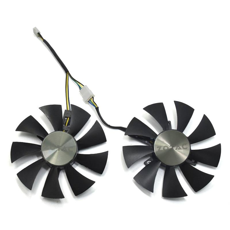 85mm GA91S2H GFY09010E12SPA 4Pin VGA refroidisseur ventilateur remplacer pour ZOTAC AMP 1060 6 GB GTX 1070 Mini carte graphique ventilateur de refroidissement