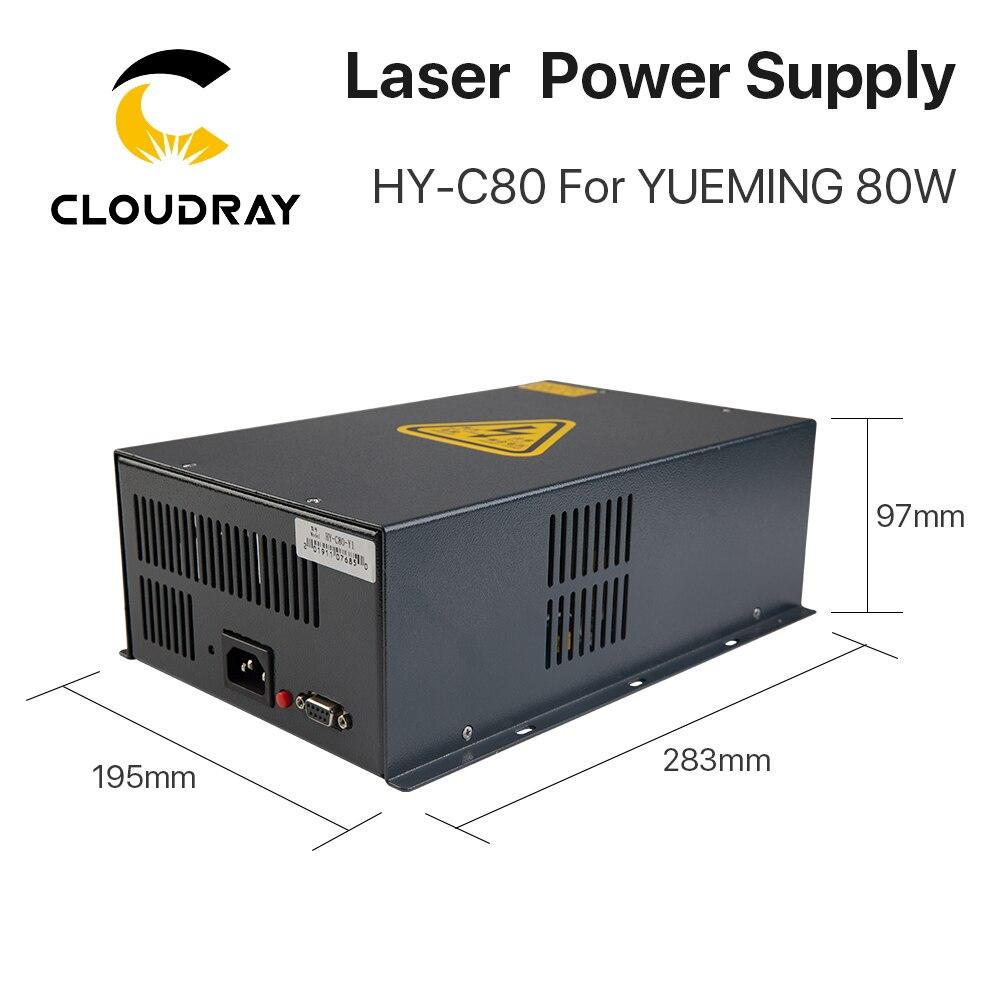Cloudray HY-C80 CO2 lézer tápegység 80W YUEMING gravírozó / - Famegmunkáló gépek alkatrészei - Fénykép 2