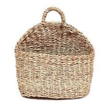 Корзины для растений, плетеная подвесная корзина ручной работы, натуральная соломенная трава, Настенная Корзина для дома, сада, Настенный декор, свадебные корзины