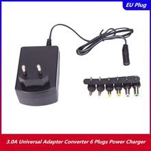 3,0 EINE Universal AC 100/240V DC Adapter Konverter 6 Stecker DC 3, 4.5, 6, 7.5, 9, 12 V 30 Power Ladegerät EU
