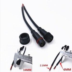 Image 2 - 10 Paar M16 Waterdichte 2 3 4 5 Pin IP65 Kabel Wire Plug Voor Led Strips Mannelijke En Vrouwelijke Jack 22 Mm Moer Connector 20 Cm Od 6 Mm