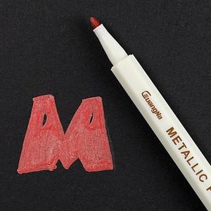 Image 5 - 10 Stks/set Metallic Marker Pen Art Marker Kleurrijke Leuke Plastic Levert Briefpapier Scrapbooking Ambachten
