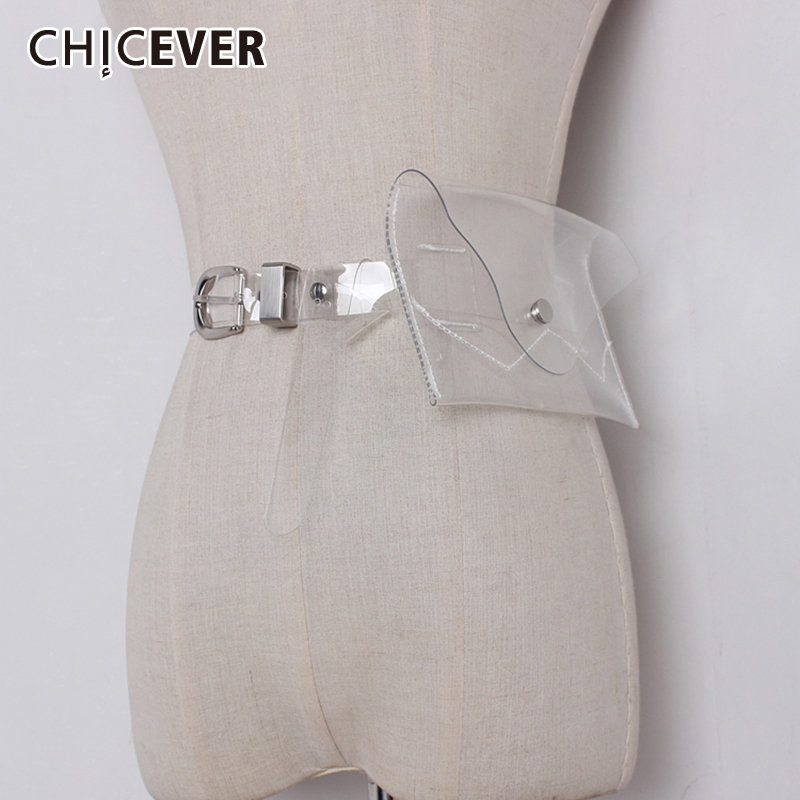 CHICEVER Korean Perspective Plastic Woman's Bagtunic Adjustable Clothing Accessories Female Belts 2020 Summer Fashion New