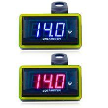DC 12V LED Digital Display Voltmeter Voltage Panel Meter For Electromobile Motorcycle Car mini 1 pcs new dc 0 30v led panel voltage meter digital led display voltmeter motorcycle car t1105