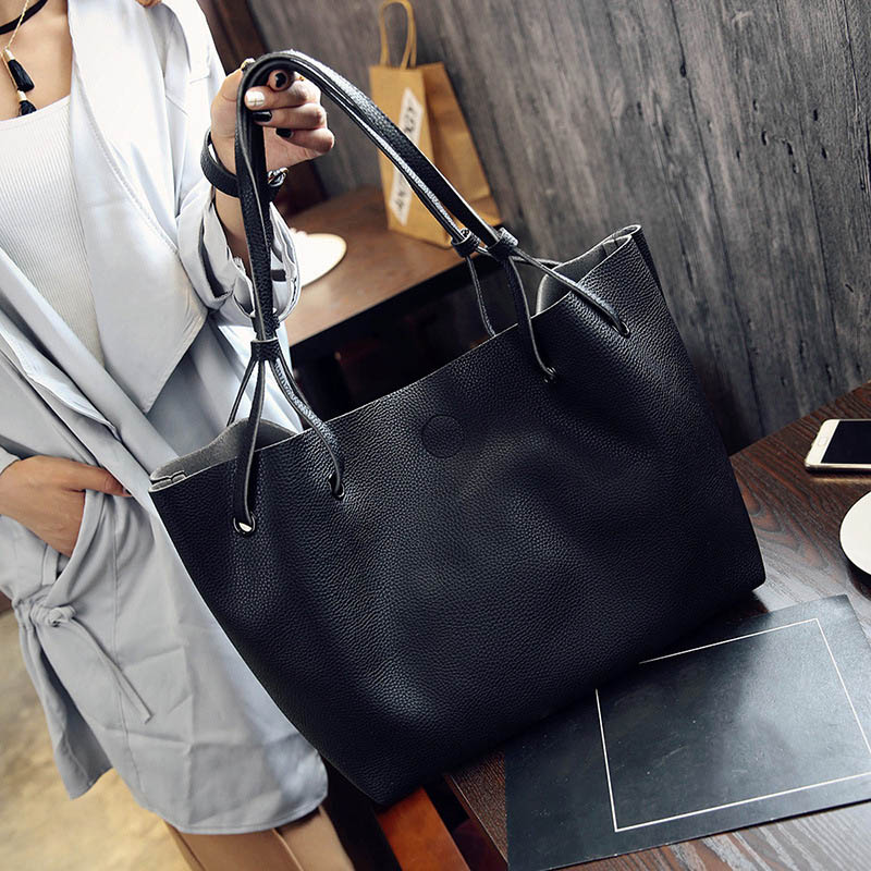 2019 New Women Handbag PU Leather Shoulder Bags Tas Composite Vintage Female Casual Designer PU Leather Handbag Bolsos Mujer Sac