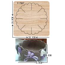 New Flower basket wooden dies cutting dies for scrapbooking Multiple sizes V-7967