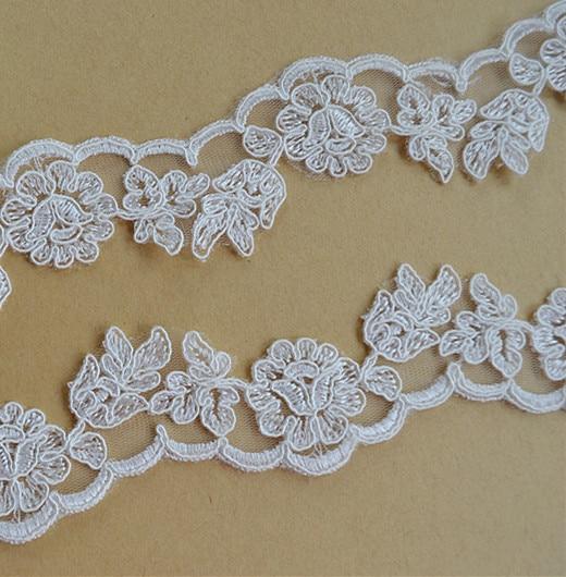 Jewelry 15 yards Ivory Venice Lace Trim Crochet Bridal Lace Trim for Veils Costume Design