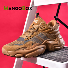 New Arrival Running Men Shoes Thick Soled Walking Shoes Men Lace Up Men Sports Sneakers Mesh Breathable Athletic Mens Sneakers original new arrival nike zoom speed tr3 men s walking shoes training shoes sneakers