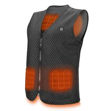 Men Outdoor USB Infrared Heating Vest Jacket Winter Flexible Electric Thermal Clothing Waistcoat For Sports Hiking cheap CN(Origin) Fits smaller than usual Please check this store s sizing info TF-0030 None Polyester as show