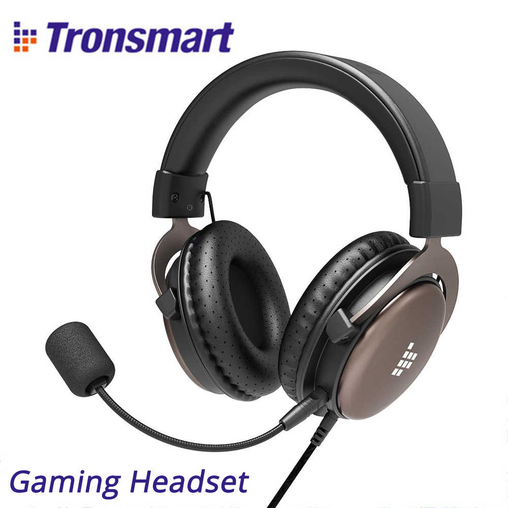 Tronsmart Sono Gaming Headset Wired Headphones 50mm Driver With Detachable Microphone For Pc Mobile Phone Ps4 Switch Aliexpress