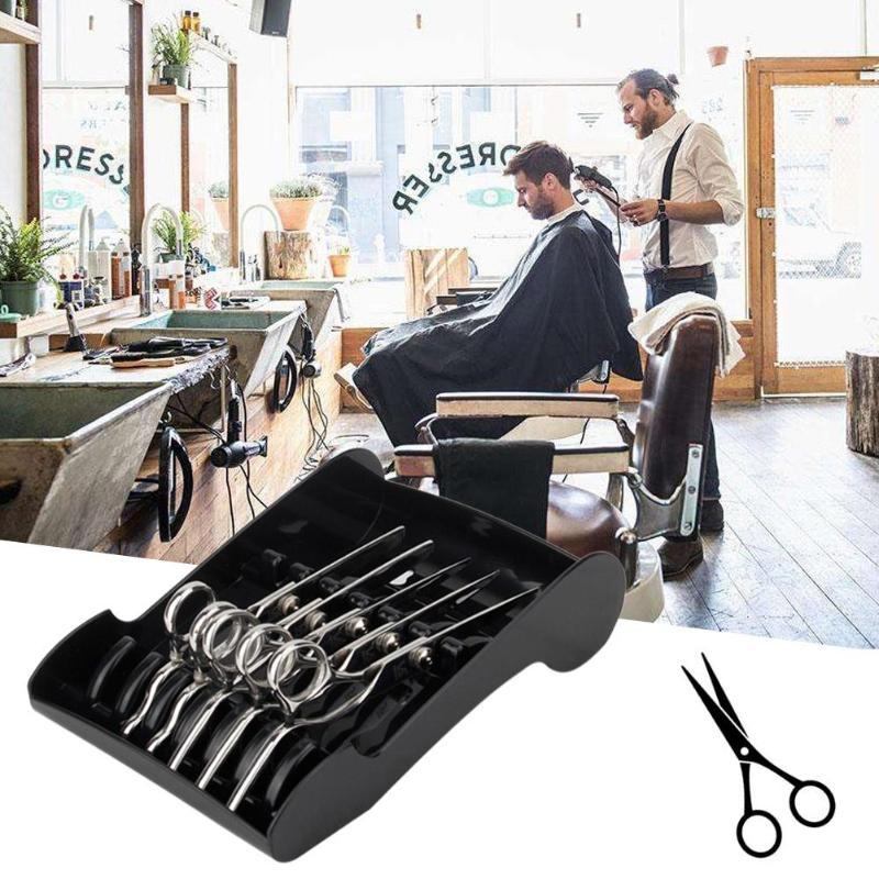 Salon Shears Stand Rack Case Hair Scissor Holder Organizer Storage Tray For Hairdresser With 2 Sucker New Arrival