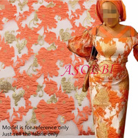 African lace fabric 2019 High Quality Embroidered Brocade Lace greed french Tulle Lace Fabric for nigeria party dress