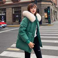 New Padded Jacket 2019 Long Fashion Winter Jacket Women Thick Down Parkas Female Slim Fur Collar Winter Warm Coat for Women S124