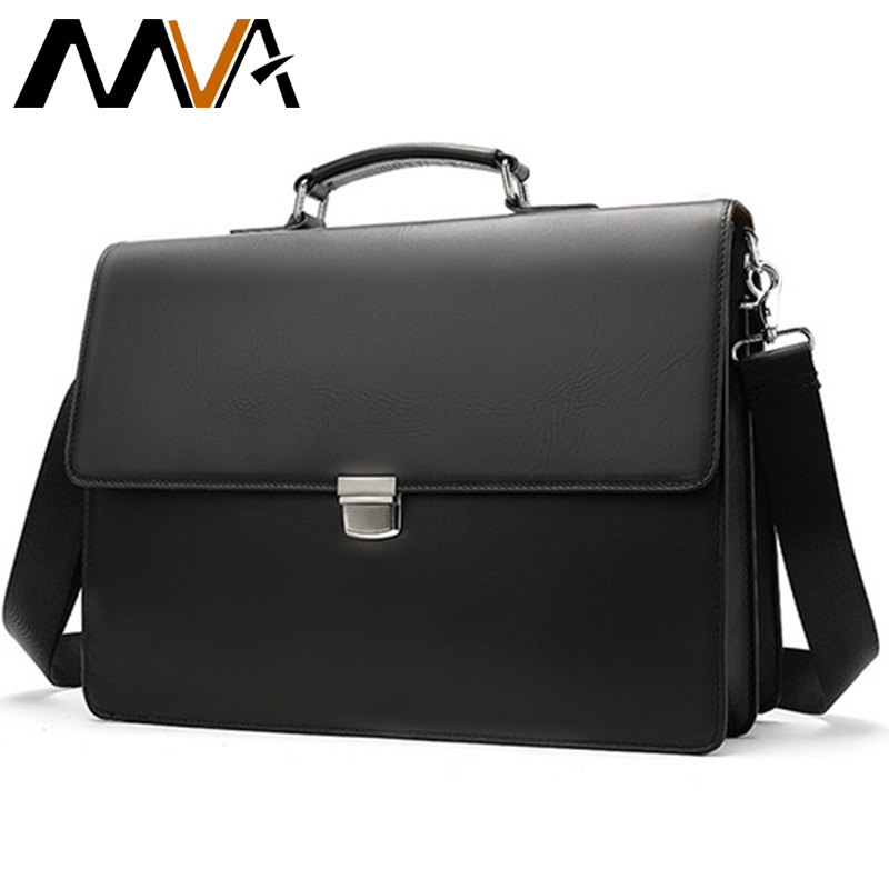 MVA Men's Briefcases Laptop Bag Leather Men's Bag Genuine Leather Lawyer/Office Bags For Men Document/Computer Bags Briefcases