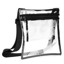 High Quality New Fashion TPU Clear Crossbody Messenger Bag Transparent Handbag for Men Women Outdoor Travel