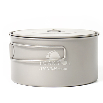 TOAKS Pure Titanium Camping Tableware Outdoor Pots, Can be Used As a Cups, Bowls and Pans POT-900-D130
