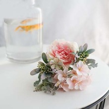 Silk Peony Artificial Flowers Bride Bouquet Fake Rose Bouquet Flores For Wedding Home Party Decoration 4colors silk peony rose hybrid bouquet artificial flower bridal bouquet wedding decoration diy home party
