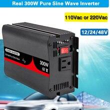 300W 12V 24V 48V DC zu AC 110v-240v Ausgang Spannung Reinen welle Auto Inverter Hochfrequenz Transformator Stromrichter Solar