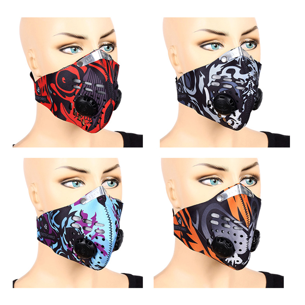Activated Carbon Face Mask PM2.5 Protection Gas Filter Respirator  Breathable Dust Mask For Women Men