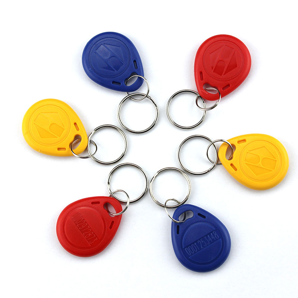 10pcs RF Proximity EM/ID Card Key Fob 125kHz Shape Card Keyfob Tags Red/yellow/blue Option