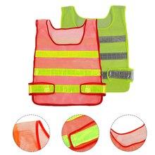 Reflective Vest High Visibility Reflective Safety Vest Multi Pockets Workwear Safety Waistcoat Traffic Warning Service Safety