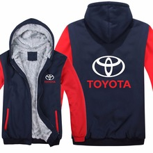 Toyota Hoodies Hoody Jacket Winter Pullover Mans Unisex Thicken Wool L