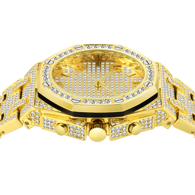 luxury mens business watches full diamonds ice out watch hip hop quartz watch for men 18k gold plated waterproof auto date male clock man drop shipping for shopify 2020 (26)